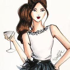 promoted from the kids table #fashionsketch #fashionillustrator…