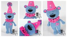 Pet Toys, Smurfs, Minnie Mouse, Disney Characters, Fictional Characters, Crochet Hats, Animals, Animales, Animaux
