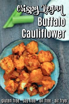 Buffalo Cauliflower ends up as everyone's favorite snack on the appetizer table! Buffalo Cauliflower ends up as everyone's favorite snack on the appetizer table! What Is Cauliflower, Baked Cauliflower Bites, Vegan Buffalo Cauliflower, Cauliflower Recipes, Vegan Appetizers, Vegan Snacks, Party Appetizers, Dairy Free Recipes, Raw Food Recipes