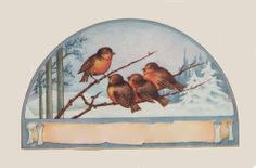 Free Clip Art Of Pretty Floral Designs From Turn of the Century China Painting. Images Vintage, Retro Images, Vintage Birds, Vintage Labels, Vintage Ephemera, Vintage Paper, Christmas Bird, Vintage Christmas, Vintage Winter