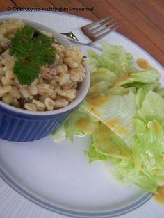 Žampiónové kroupy na sýru Philadelphia Philadelphia, Lettuce, Quinoa, Cabbage, Grains, Rice, Vegetables, Food, Bulgur