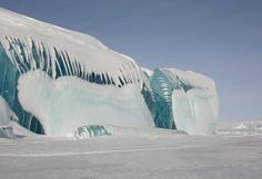 A set of breathtaking images of frozen waves. The frozen waves are just beautifully shaped glaciers that were formedt as a result glaciation. A set of breathtaking images of frozen waves. Tsunami, The Places Youll Go, Places To Visit, Frozen Waves, Antartica Chilena, Cool Photos, Cool Pictures, Interesting Photos, Colorful Pictures