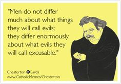 Excusable Evils what is excusable and what is evil and what people think about them. Differences in morality and practice may be summed up nicely.