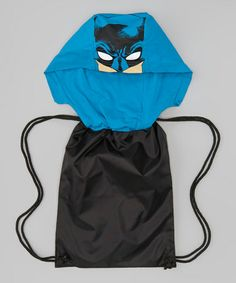 Take a look at this Black & Blue Batman Hooded Back-Sack by Batman on #zulily today!