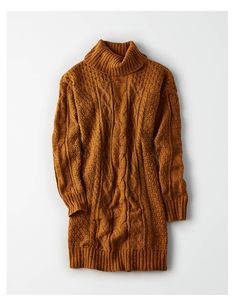 9a3224b177e200 AE Turtleneck Cable Knit Sweater Dress