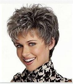 Buy picture color hot sale hair Curly products Beautiful boy cut Short pixie wigs for women style Synthetic Gray hair wig with bangs 2086 at Wish - Shopping Made Fun Short Pixie Wigs, Short Human Hair Wigs, Pixie Cuts, Grey Hair Wig, Short Grey Hair, Hair Bangs, Short Choppy Hair, Short Shag, Short Hairstyles For Women
