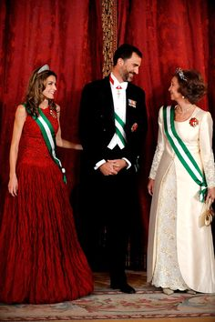 Princess Letizia - Spanish Royals Host Gala Dinner with Michel Suleiman, President of Lebanon