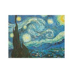 Van Gogh Starry Night Canvas Print #popofcolor