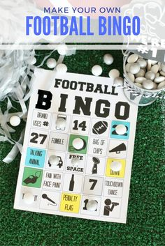 Keep your football party guests engaged and entertained with this Football Bingo game from @gigglesgalore! Stop by our blog for complete details and FREE PRINTABLES!