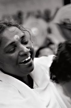 Amma, indias hugging saint. she travels the world giving out free hugs and encouraging love. amazing.