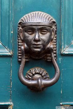 Door Knocker in Florence Italy✖️More Pins Like This One At FOSTERGINGER @ Pinterest✖️