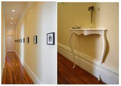 floor, walls, trim and lighting.