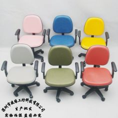 Mini office chair cell phone holder rotating leather chair cell phone holder 1:6th Scale