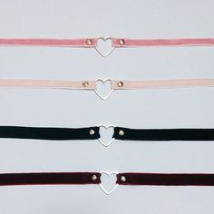 Heart Velvet chokers by AprilsDaughter on Etsy Definitely going to get one!