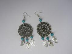 Boucles d'oreilles bohèmes estampes bronzes : Boucles d'oreille par mogs-creations
