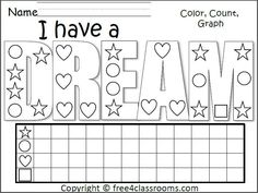 Martin Luther King Jr. Pattern Worksheet. Free math activity for ...