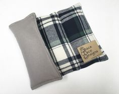 LARGE Plaid Flannel Rice Heating Pad, Rice Pack, Microwaveable Heat Bag, Hot Cold Therapy, Back Neck Pain Relief, essential oil, eucalyptus by StaceFaceDesigns on Etsy