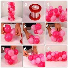 Fazendo a Festa - Dicas e Idéias : Faça você mesma - Técnica com balões para festas i...