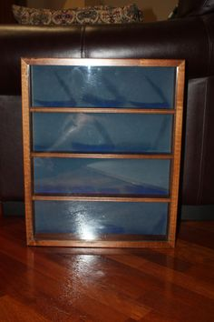 Vintage Wooden Hanging Display Case/Wood Curio Box/Wooden Shadow Box/Hanging Glass Case by DebiLynneVintage on Etsy