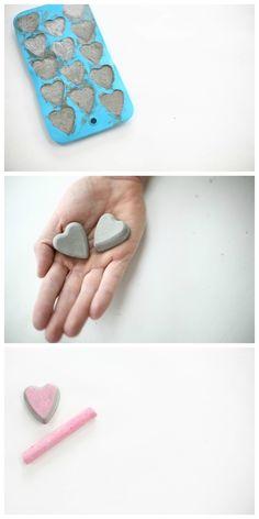 corazones de cemento pueden servir de tiradores agregandole un tornillo