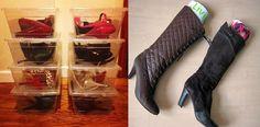 organizing your shoe closet