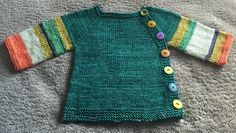 Ravelry: chitweed's New Babies on the Way...  A sweater for my niece's new baby. Tried to not be gender specific because we didn't know what she was having. SO I had great fun with the colors. Pattern is Beyond Puerperium by Kelly Brooker.