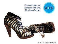 Zapato Cebra Negra. Encuéntralos en Almacenes Paris Alto Las Condes $95000 Tallas 35 al 40 100% Cuero   Visita nuestra Tienda Online:  www.katedevotee.cl www.katedevotee.b... Síguenos en Facebook y Twitter