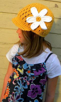 Flower Cap Crochet Patternbaby to adult sizes by smeckybits