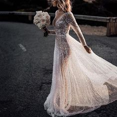 Women's Elegant Pure Color See-Through Hot Drilling Evening Dress Source by dresses Elegant Wedding Dress, Elegant Dresses, Wedding Dresses, Bride Dresses, Bridal Gowns, High Slit Dress, Dress Long, Fishtail Dress, Evening Dresses With Sleeves
