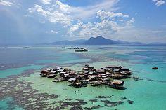 Bajau village, Tun Sakaran Marine Park, Sabah Malaysia Timothy Allen