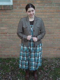 Outfit combo. Plaid. Skirt. Jacket. Boots. Blue.Browns.  http://apinchofclassy.blogspot.com/2013/02/plaid-fun-classygarb.html