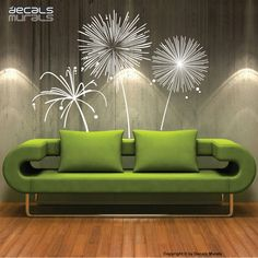 Wall decal FIREWORKS Vinyl shapes modern decor stickers by Decals Murals (Large). $55.00, via Etsy.