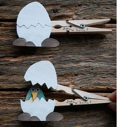 Source: flickr.com via Amanda on Pinterest  Today's pinterest pin of the day is a super cute kids craft. Make these sweet spring eggs by gluing the cut out images to a clothes pin. You could use this idea and make it in so many ways! Check out all the great things that I find...Keep Reading »
