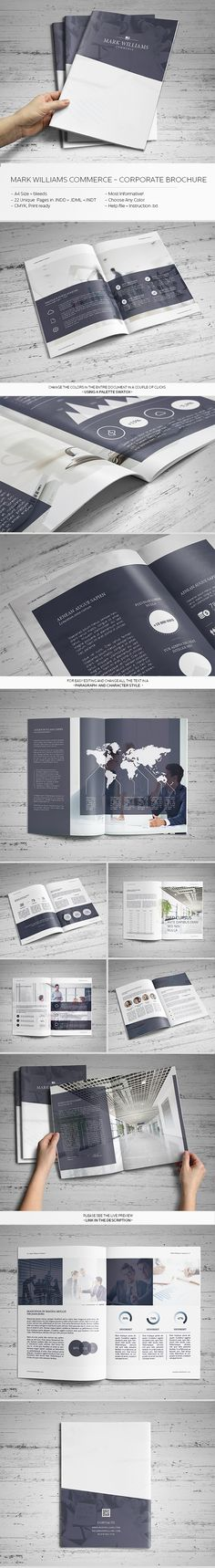 Mark Williams Commerce - Corporate Brochure by Realstar , via Behance