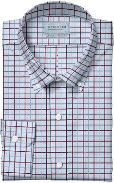 White Rasberry and Sky Blue Check Premium Egyptian Cotton Shirt