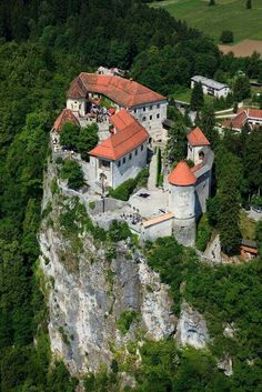 Castle on Lake Bled in Slovenija.