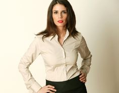 Image result for dress shirt on woman