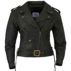 Classic Motorcycle Jacket I, 482$, *Made from 1.2-1.4mm Soft, Buttery Full Grain Leather. Dual front, rear, and sleeve vents for maximum airflow. Two inside pockets: Left with a snap closure, Right with a zipper closure. Adjustable half belt and laced sides deliver an optimal fit for all seasons. Removable insulated full sleeve liner hide-away fleece neck warmer. Padded and extended kidney panel. Antique Brass YKK Hardware.