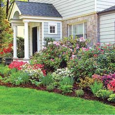 Put another way, a successful foundation planting starts with picking the right plants in the right proportion: evergreens to provide the structural bones of the beds year-round, deciduous and flowering shrubs to add texture, and perennials of varying heights that yield long-lasting color. Michigan-based landscape designer Jeremy Christianson offers this rule of thumb: About 50 percent of the foundation bed's space should be evergreens, 25 percent deciduous and flowering shrubs, and 25 pe...