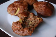 Gluten-Free Carrot Cake Banana Muffins Recipe. Dairy-free. - Breads from Anna