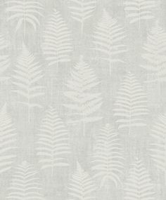 Incorporate soft, natural elegance to your home with this Scandinavian-inspired botanical wallpaper. A light grey backdrop is imprinted with an array of white fern shapes for a cozy yet sophisticated design. Bracken is an unpasted, non-woven wallpaper. Dark Grey Wallpaper, Grey Wallpaper Samples, Fern Wallpaper, Botanical Wallpaper, Star Wallpaper, Embossed Wallpaper, Neutral Bathroom Wallpaper, Luxury Wallpaper, Wallpaper Ideas