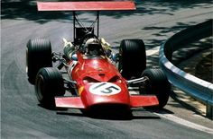 1969 Spanish GP, Montjuic. #15 Ferrari 312 driven by Chris Amon, DNF Engine seized after 56 laps. 2nd on grid.