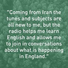 This refugee uses his radio to learn English and connect with the people around him.