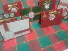 FOR SALE: set of 6 monogram Christmas,  Happy Holidays, New Year's cards. Handmade! Only $25. Envelopes included.