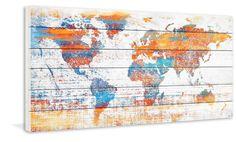 'Warm World' by Parvez Taj Painting Print on White Wood