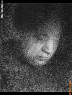 Georges Seurat, Part 2 – Drawings Georges Seurat, Life Drawing, Painting & Drawing, Post Impressionism, Chiaroscuro, Art Graphique, Portrait Art, Portraits, Gravure