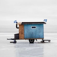 Photographer Documents the Diverse Designs of Canadian Ice Fishing Huts in Charming Photo Project - For the past eight years, Toronto, Canada-based architectural photographer Richard Johnson has been - Ice Fishing Huts, Fishing Shack, Fishing Rods, Fishing Tackle, Ice Fishing Shanty, Ice Shanty, Mobile Sauna, Province Du Canada, Igloo Building