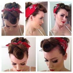 Suicide Rolls #Pinup #Rockabilly #Retro #Vintage #Red #Hair #Rolls #Suicide