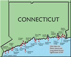 Connecticut Lighthouse Map