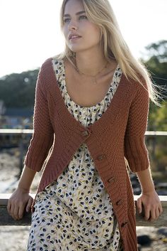 Ravelry: Summer Set Long Moss Stitch Cardi pattern by Pam Allen